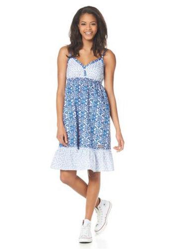 """Femmes-robe de /""""Kangaroos/"""" taille 32 à 36 bleu a motifs"""