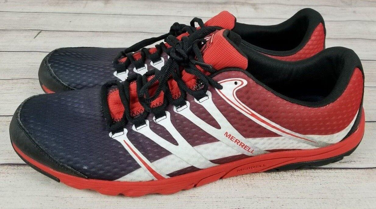 Merrell Molten Lava Uomo Barefoot Barefoot Barefoot Trail Running scarpe Dimensione 15 rosso nero & bianca df8a5e