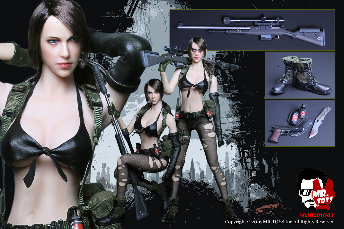 MR TOYS 1 6 Metal Gear Solid Quiet Sexy female Sniper military figure (NO BODY)