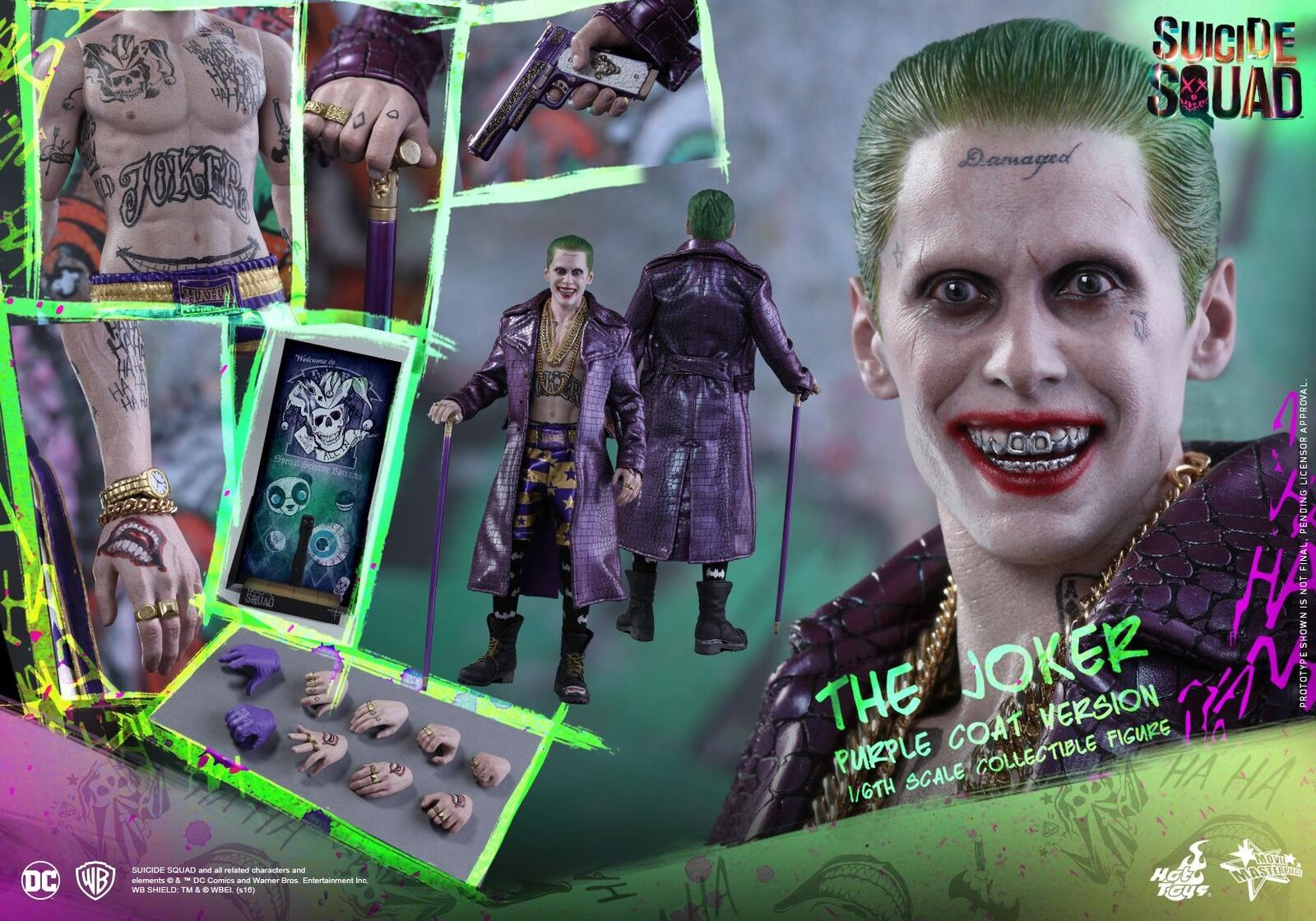 heta leksaker 1  6 DC Suicide S382 Joker lila Coat Ver Figur Brand Ny