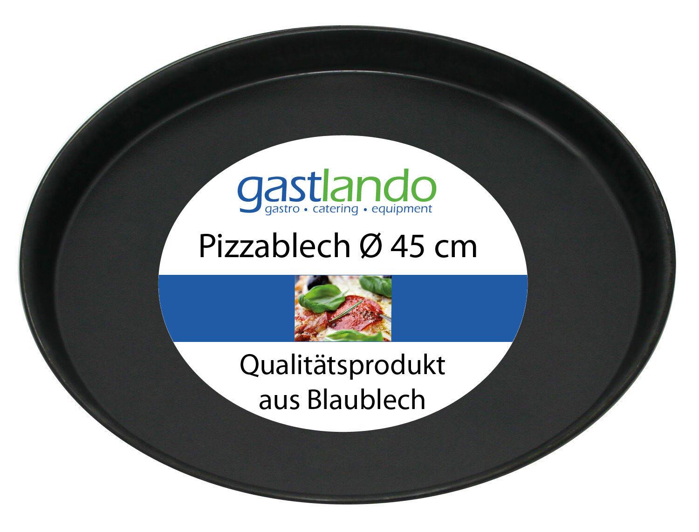 20 pezzo di pizza PIZZA LAMIERA FORMA TORTA FORMA PIATTO ROTONDO Ø 45 cm gastlando