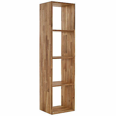 Solid Oak Shelf Storage Box Shelves Display Shelving Unit | 1/2/3/4 Cube