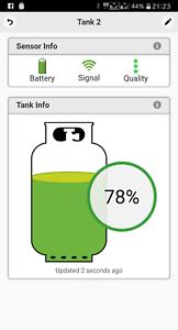 GAS Inhaltsanzeige Bluetooth 2er SET für Propan GAS Flaschen Gasanzeige MOPEKA