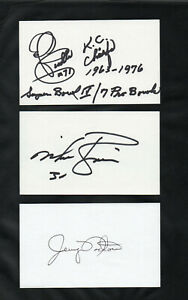 ED BUDDE OL KANSAS CITY CHIEFS SIGNED AUTOGRAPHED INDEX CARD 3X5 ADDED STATS