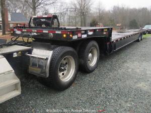 2012 Ledwell LW48 HT2-10-PB 48' 40 Ton Hydraulic Tail Equipment Trailer bidadoo
