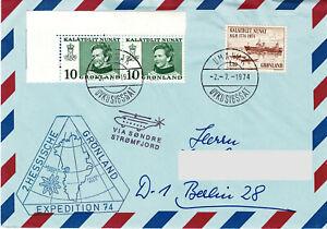 Polarpost BRD: 2. HESSISCHE GRÖNLAND EXPEDITION (DAV) - 1974