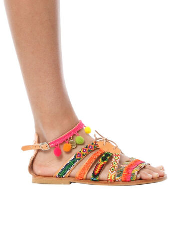 NEW $275 ELINA LINARDAKI Hula Hoop Sandal sz 36 6