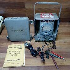 Vintage Military Multimeter Ts 505du Model Engineering Vacuum Tube With Manual