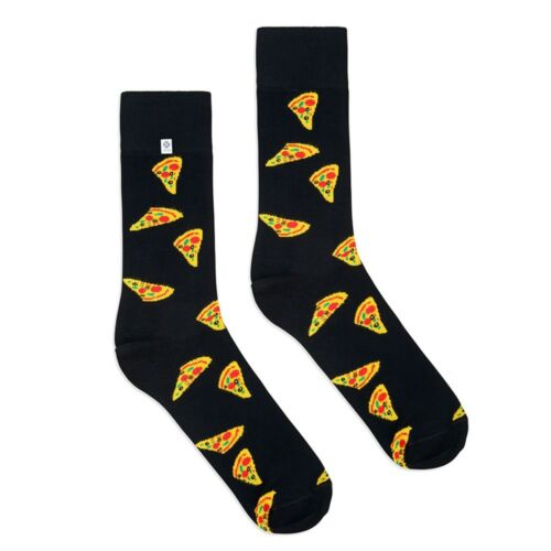super for suit 4LCK high quality fashion colorful funny black Socks with Pizza