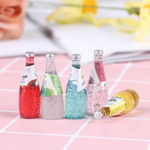 5Pcs 1//12 Miniature food mini fruit drink model for dollhouse kitchen toys IG