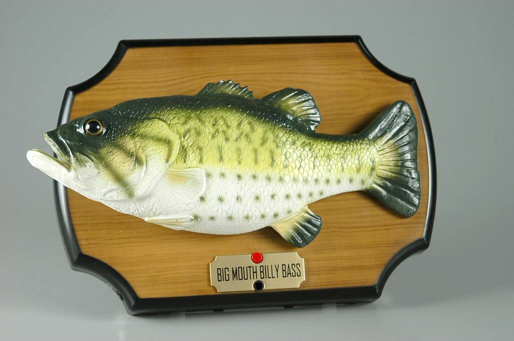 Big Mouth Billy Bass Singing Fish 1999 Gemmy Don't Worry Be Happy