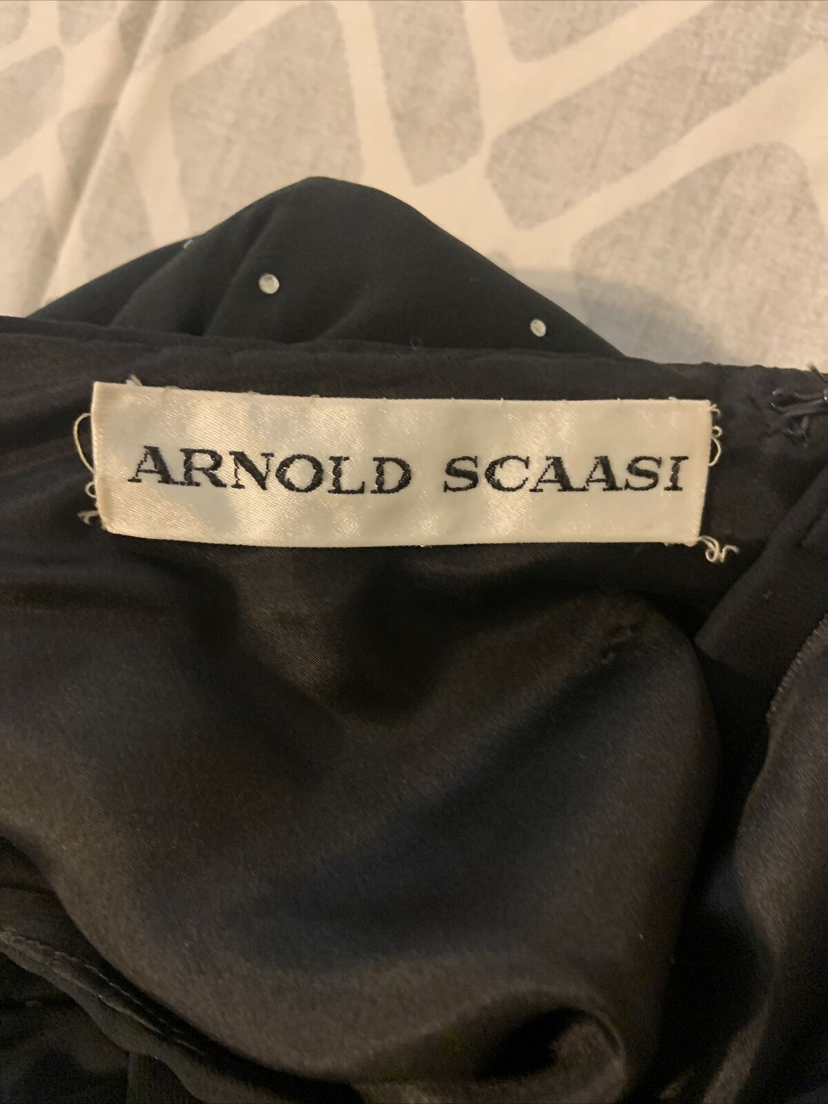 Arnold Scaasi Womens Vintage Couture Black Silk C… - image 8