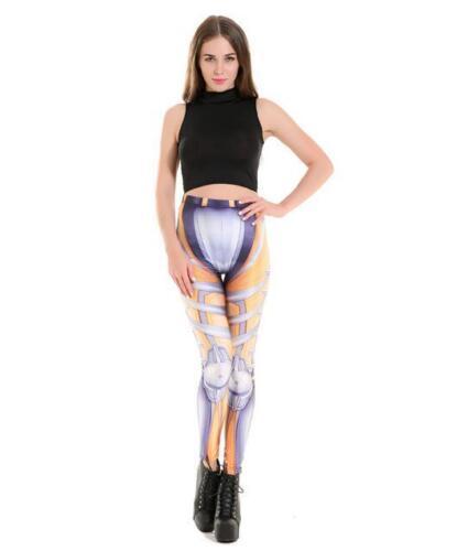 Women leggings Mecha Robot cosplay printed legging S-4XL  Slim legging 3695