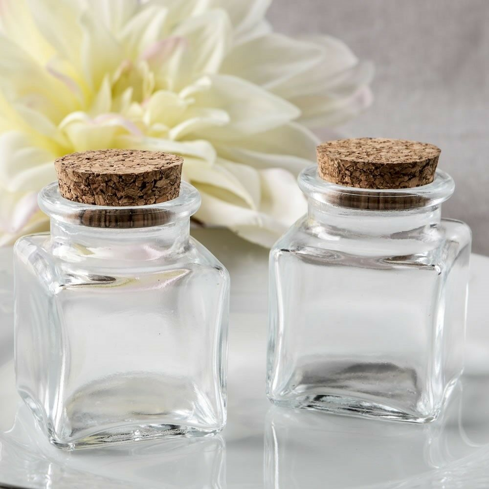 120 Square Glass Jars Wedding Bridal Baby Shower Birthday Party Favors