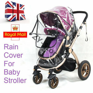 Universal-Pushchair-Buggy-Rain-Cover-Baby-Transparent-Stroller-Pram-Wind-Shield