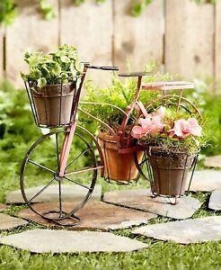 Vintage-Metal-Bike-Bicycle-Planter-Garden-Yard-Lawn-Art-Home-Decor-Pink
