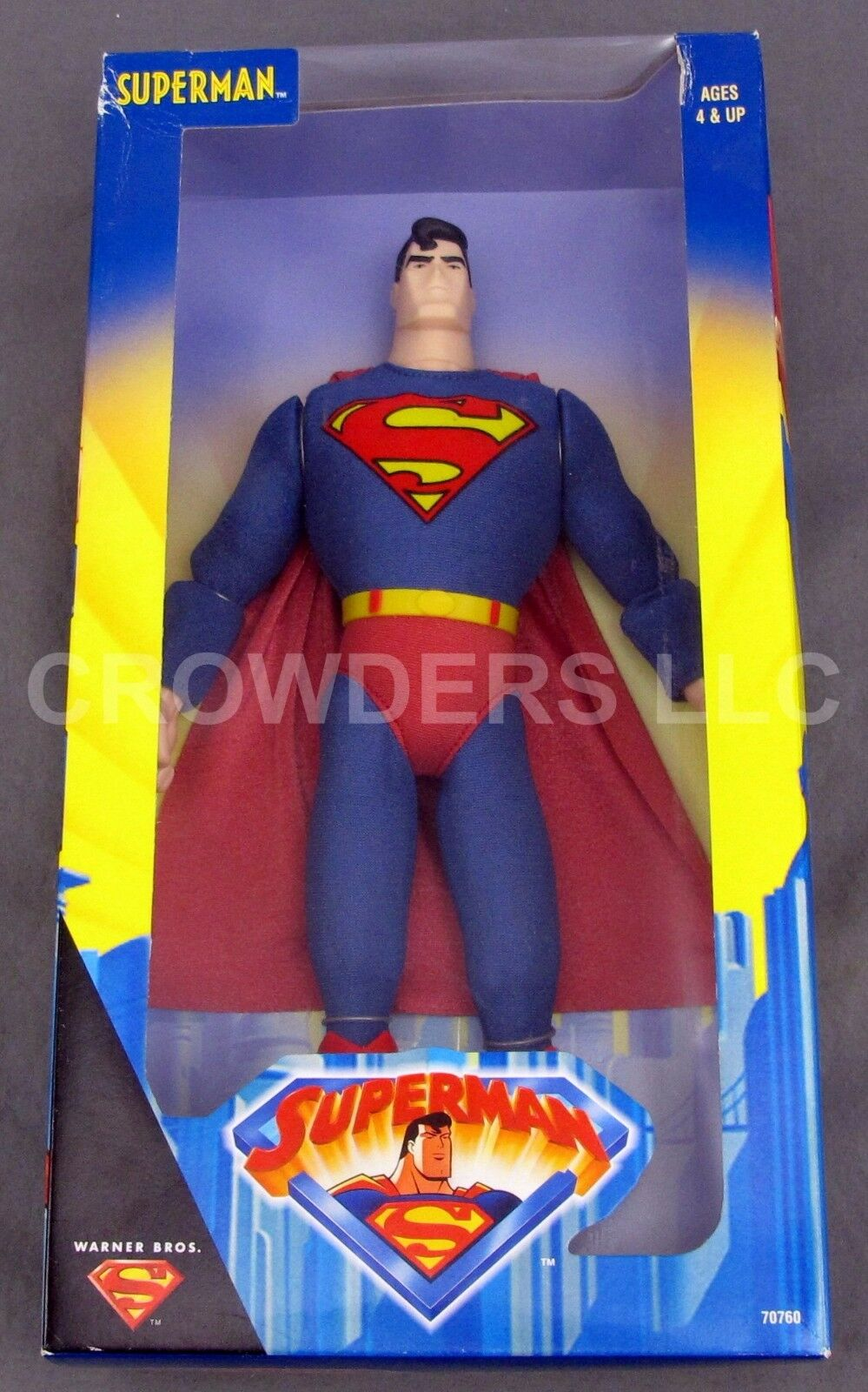 Animated Series SUPERMAN 12  Fully Poseable Action Figure Kenner Warner Bros '98