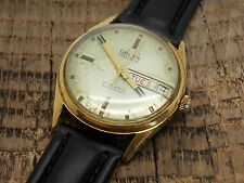 Vintage Swiss Made Gruen 17 Jewel Automatic Watch Cal 580 10 Microns Gold Plated