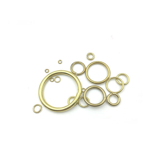 Solid Brass Open Jump Rings Link Loops 5 7 8 10 12 14 15 16 18 20 23 26 30 50mm