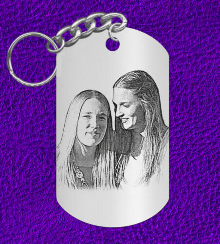 Personalized FREE Engraved Picture Keychain Gift for SISTERS use your photo