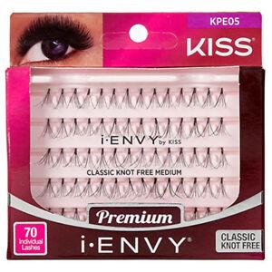20886c68fcd I ENVY BY KISS 70 INDIVIDUAL FALSE EYELASHES BLACK KPE05 KNOT FREE ...