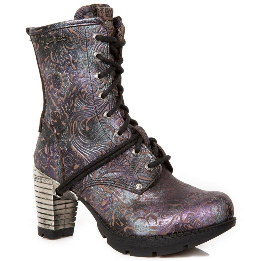 NEWROCK NR M.TR001 S4 Flower purplec - New Rock Boots - Womens