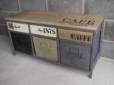 VINTAGE INDUSTRIALE dipinto Credenza storage Multi Stile Retrò console sul petto