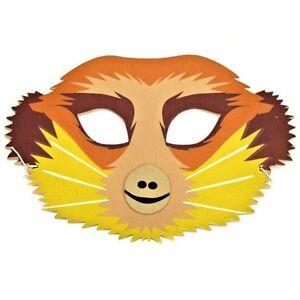 Meerkat foam face mask safari animal mask children for Cheetah face mask template