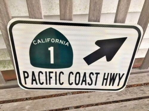 """DOT style PACIFIC COAST HIGHWAY road sign PCH HWY 1 California Hwy 1  12/""""x18/"""""""