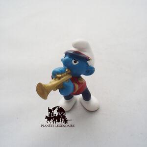 Figurine schtroumpf fanfare musicien trompette smurf - Schtroumpf musicien ...