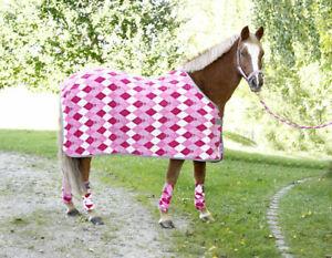 Set-Halfter-Strick-Abschwitzdecke-Covalliero-Kids-LILLI-Pony-pink-Shetty-rose-1