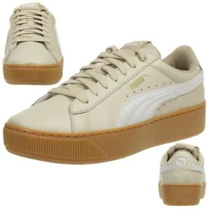 Puma Damen Vikky Platform L Sneaker, Beige (Safari-White), 38 EU