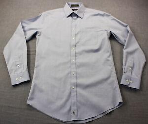 Nordstrom-Mens-Blue-Trim-Fit-Smartcare-100-Wrinkle-Free-Dress-Shirt-15-34-35