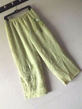 FLORESSE 1 GREEN LAGENLOOK PANTS Capri Cropped ARTSY L XL 1x Layered Patchwork