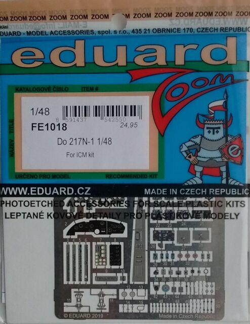 Eduard Zoom FE1018 1//48 Dornier Do-217N-1 ICM