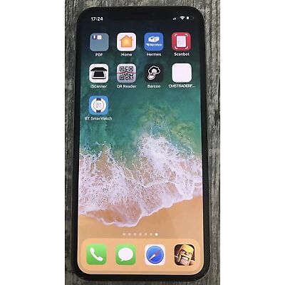 Apple iPhone X 64GB Silber  Ohne Simlock , Gebracht