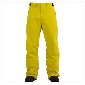 2016-NWT-MENS-BILLABONG-CLASSIC-SNOWBOARD-PANT-L-citrus-waterproof-venting