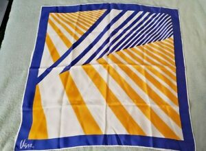 Vintage 60s VERA Neumann Orange Bandana Top Abstract Stripes