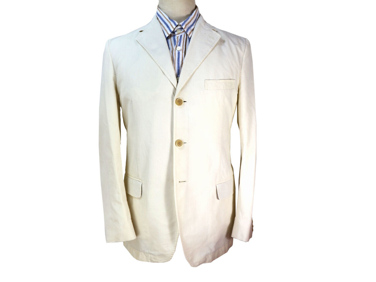 Brooksfield, 3 button blazer, white cotton size M