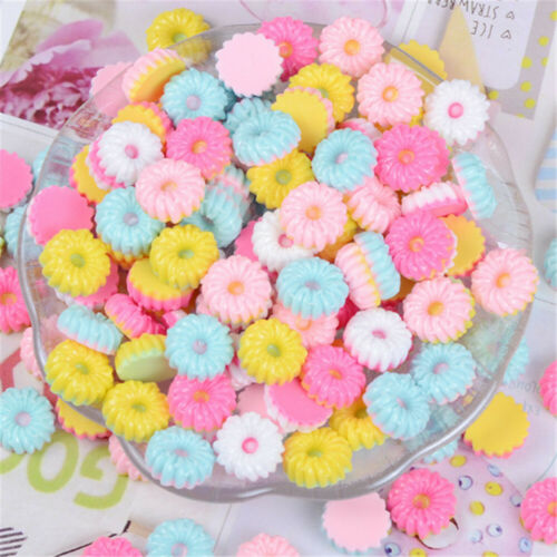 x30 Assorted Resin Moon Cakes Craft 20mm DIY Jewelry Cabochons Charms Lot of