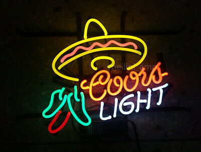 """17/""""X14/"""" Coors Light Cayenne Cushaw Beer Bar REAL NEON LIGHT SIGN Free Ship"""