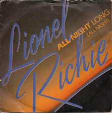 "Lionel Richie All Night Long (All Night) UK 45 7"" +Pic Slv Tamla Motown TMG 1319"