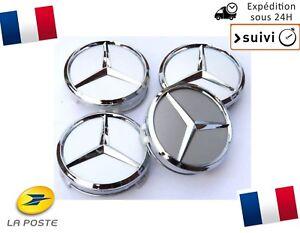 4x-Cache-Moyeu-Centre-de-Roue-Enjoliveur-Emblem-jante-Logo-insigne-Mercedes-75mm
