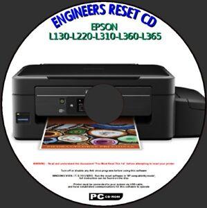 Details about EPSON L130 L220 L310 L360 L365 PRINTER WASTE INK PAD ERROR  ENGINEER RESET DISC