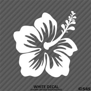 Hawaiian-Hibiscus-Flower-Vinyl-Car-Laptop-Decal-Sticker-Choose-Color-Size