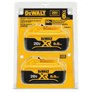 DEWALT-DCB206-2-20V-MAX-Premium-XR-6-Ah-Li-Ion-Slide-Battery-2-Pc-New
