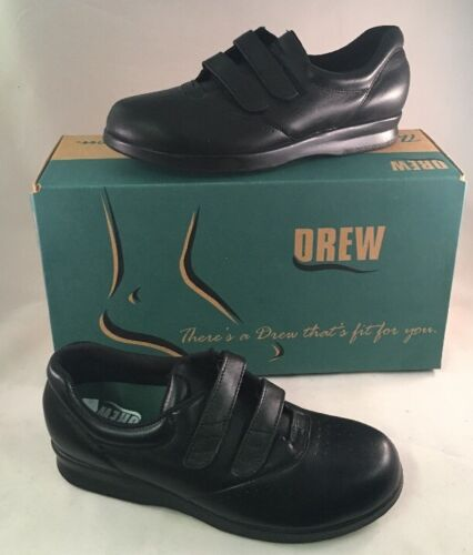 Drew Paradise Black Calfskin Diabetic Women/'s Shoes Compare To SAS 14421-12