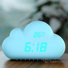 Cloud Shape Sound Control USB Digital Alarm Clock Time Temperature Date Clock h