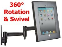 Ipad 2 3 4 Wall Mount Anti Theft Safe Secure Stand Heavy Duty Full Motion 360°
