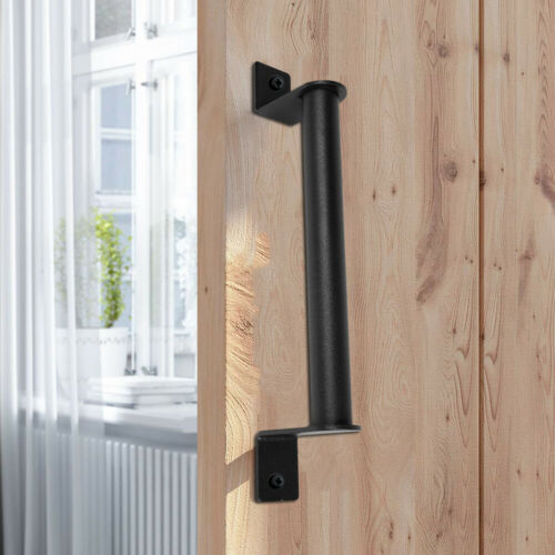 "Sliding Barn Door Pull and Flush Door Handle Set Matte Black 11/"" 8.7/"" 8.9/"""